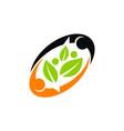 ecology sharing logo design template vector image