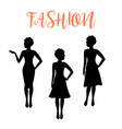 fashion woman silhouette with folded hair vector image vector image