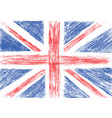 Flag of UK pencil drawing vector image