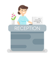 flat style of hotel reception vector image