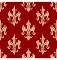 French fleur-de-lis seamless floral pattern vector image vector image