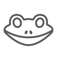 frog line icon animal and zoo amphibian sign vector image