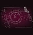 gear mechanism on burgundy vector image vector image