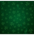 green background for Patricks day with shamrocks vector image vector image