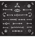 Hand drawn chalk arrows set vector image vector image