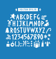 hand drawn funny alphabet drawn latin vector image