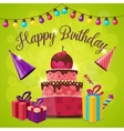 Happy Birthday Template vector image
