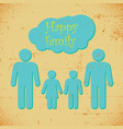 happy family poster vector image