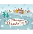 Happy new year and merry Christmas landscape card vector image