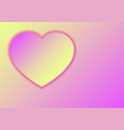 heart love symbol for valentines day from paper vector image vector image