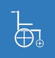 icon medical wheelchair vector image vector image