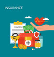 insurance concept flat style design vector image vector image