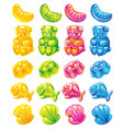 jelly candy colour set vector image vector image
