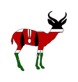 Kenya antelope vector image vector image