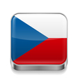 Metal icon of Czech Republic vector image vector image