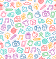 Miscellaneous doodle pattern vector image