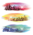 Modern cityscape background vector image