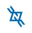 modern logo with letter prefix n vector image