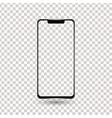 new frameless phone front black drawing vector image vector image