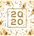 new year 2020 greeting design vector image vector image