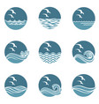 ocean icon set vector image vector image