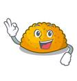 okay delicious fried patties on plate cartoon vector image vector image