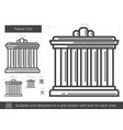 palace line icon vector image vector image