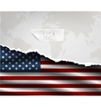 paper with hole and shadows USA flag vector image vector image
