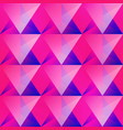 pink triangle seamless pattern vector image vector image