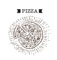 pizza ribbon pizza white background image vector image