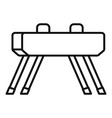 pommel horse icon outline style vector image vector image