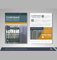 presentation flyer concept vector image vector image