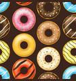 realistic detailed 3d glazed donuts seamless vector image vector image