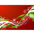 Red and green Christmas background vector image vector image