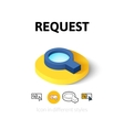 Request icon in different style vector image vector image