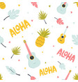 seamless pattern with hawaiian summer elements vector image vector image