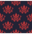 Seamless red colored floral arabesque pattern vector image vector image