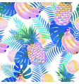 seamless tropical pattern with palm leaves vector image vector image