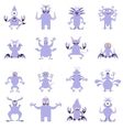 Set of flat moster icons6 vector image