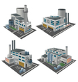 Set of perspective factories vector image