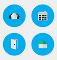 set of simple property icons elements entry vector image vector image