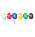set realistic colorful balloons isolated vector image vector image