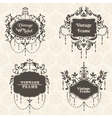 Set Vintage Frame collection with FLower elements vector image vector image