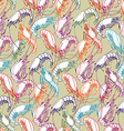 Shrimps Seamless pattern background Orange red vector image vector image
