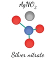 Silver nitrate AgNO3 molecule vector image vector image