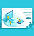 social network advertisement work process vector image