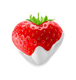 strawberry with chocolate vector image vector image