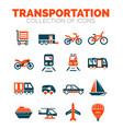 Transportation premium icon set vector image