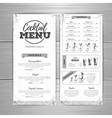 Vintage cocktail menu design vector image vector image
