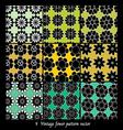 Vintage fower pattern vector image